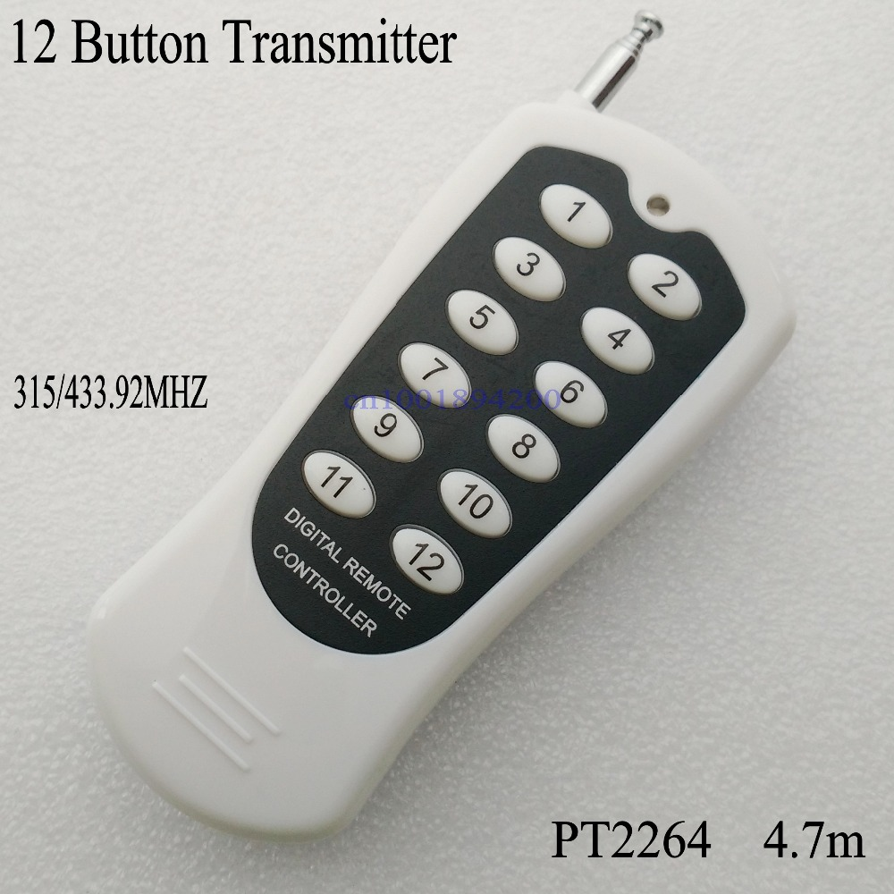 12CH/12 Buttons/Key  RF Wireless Remote Control/Radio Controller/Transmitter controller for 12V12CH receiver Switch 315/433MHZ dmx512 digital display 24ch dmx address controller dc5v 24v each ch max 3a 8 groups rgb controller
