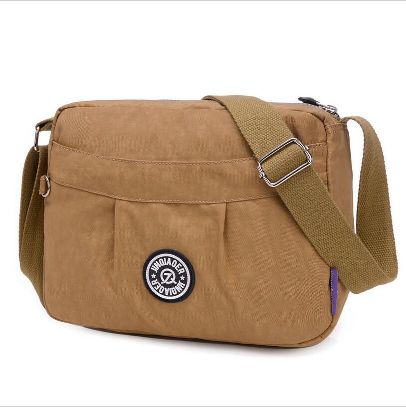 Waterproof Messenger Bag >> JINQIAOER New Women Messenger Bags Crossbody Bag Nylon Waterproof Shoulder Bag Designer Handbags ...