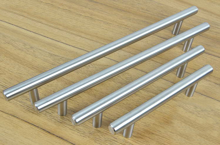 Furniture Hardware Modern Solid Stainless Steel Kitchen Cabinet Handles Bar  T Handle(C.C.:320mm L:450mm) In Cabinet Pulls From Home Improvement On ...