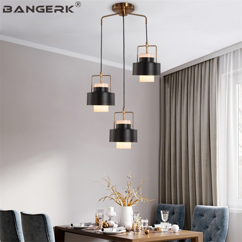 Nordic Design Loft LED Hanging Lamp Iron Glass Modern Pendant Light Fixtures For Home Decor Lamps Pendant Lighting Luminaire iwhd modern luminaire suspendu iron led pendant light fixtures dining kitchen hanging lamp home lighting creative design lamp