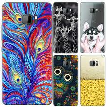 Capa de telefone para htc u ultra 5.7 polegadas, bonito, desenhos animados, alta qualidade, pintado, tpu macio, capa de silicone