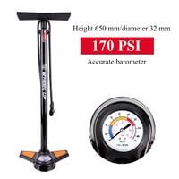 Bicicletas portátil Ciclismo bomba de aire Inflador de alta presión mtb mountain bike multifuncional Bombas con manómetro 170 psi 160psi