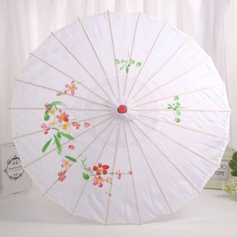 White BESTOYARD Bridal Wedding Umbrella Lace Cotton Embroidery Handmade Parasol Umbrella for Wedding