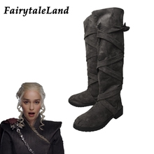 Game of Thrones Season 7 Daenerys Targaryen shoes cosplay Boots Halloween cosplay accessories Women boots