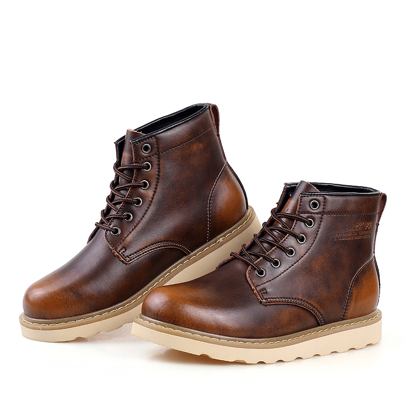 Aliexpress.com : Buy Mens Waterproof Leather Boots Autumn Casual ...