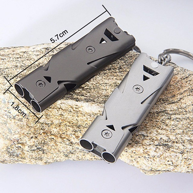 Aluminum high-frequency Molle Emergency Survival Whistle 2