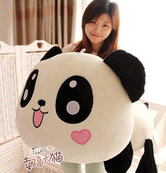 Pernycess 1 pcs 90 cm Belle allongé peluche panda poupée jouets