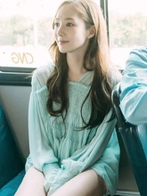 цена на white Green with vest Chiffon Whats wrong with secretary Kim Why did Pu Minying Long sleeves shirt Maternity Tops Tee Pregnant