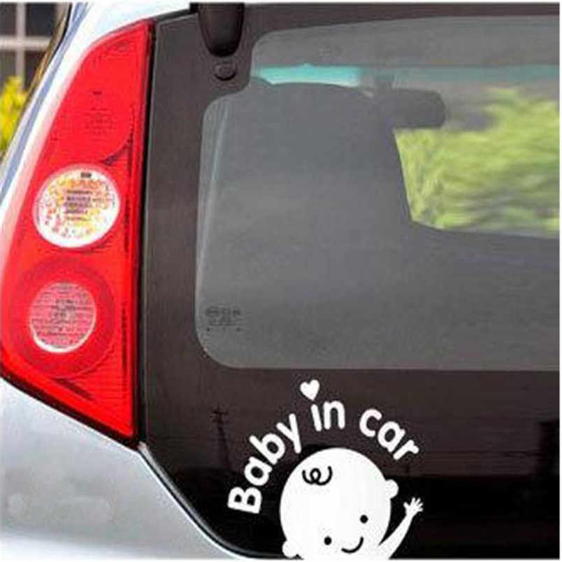 الطفل في السيارة يلوحون سلامة الطفل على متن علامة سيارة شارات/ملصقا July4 p30
