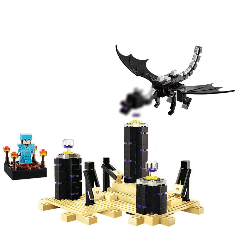 The Ender Dragon 10178 my world model self-locking Building Blocks DIY Classic Architecture toy for children compatible 21117 candice guo cubicfun 3d puzzle diy toy paper building model children gift turkey galata tower world s great architecture c098h