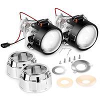 2.5 Mini Projector Lens for H1 Bulb Headlights Retrofit, Custom Headlamps Conversion 2 Years Warranty dlt hid ballast
