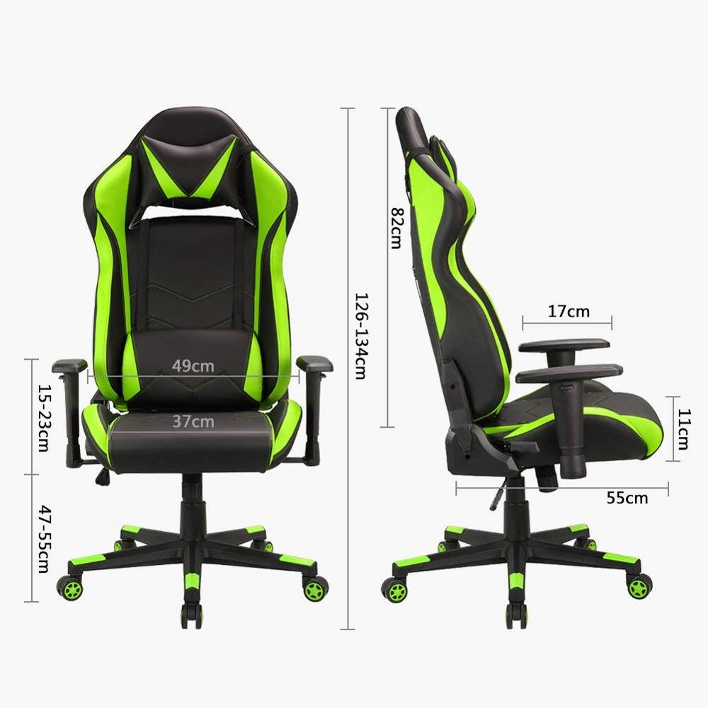 Gaming Office Leathe Executive Chair Swivel Computer Chair With Lumbar Support and Rocker Headrest and Seat Height Adjustment in Office Chairs from Furniture