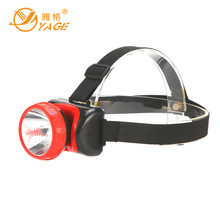 YAGE 3586 head light led flashlight Hiking lamp mini touch 2-mode switch convenient Lead acid outdoor waterproof