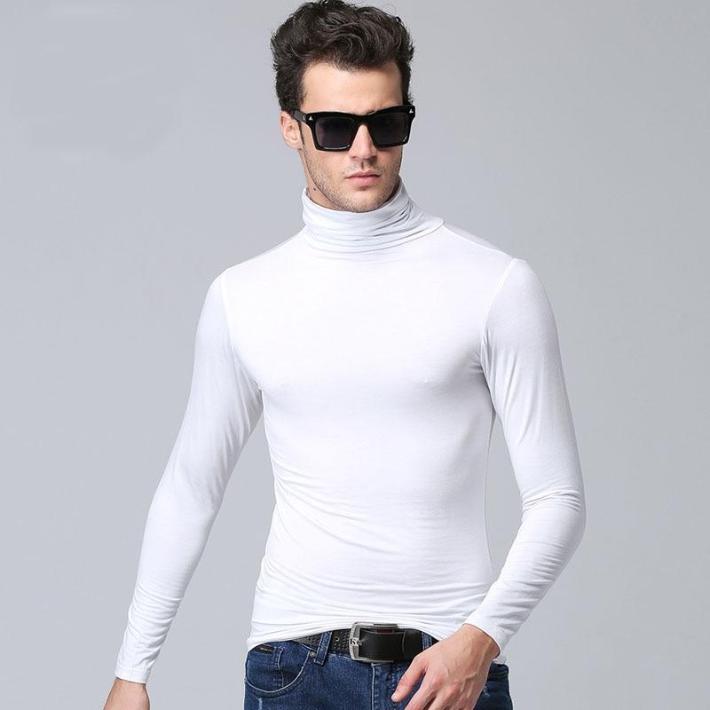 Herrmodell turtleneck långärmad T-shirt våren 2019 ny höststudent - Herrkläder - Foto 6