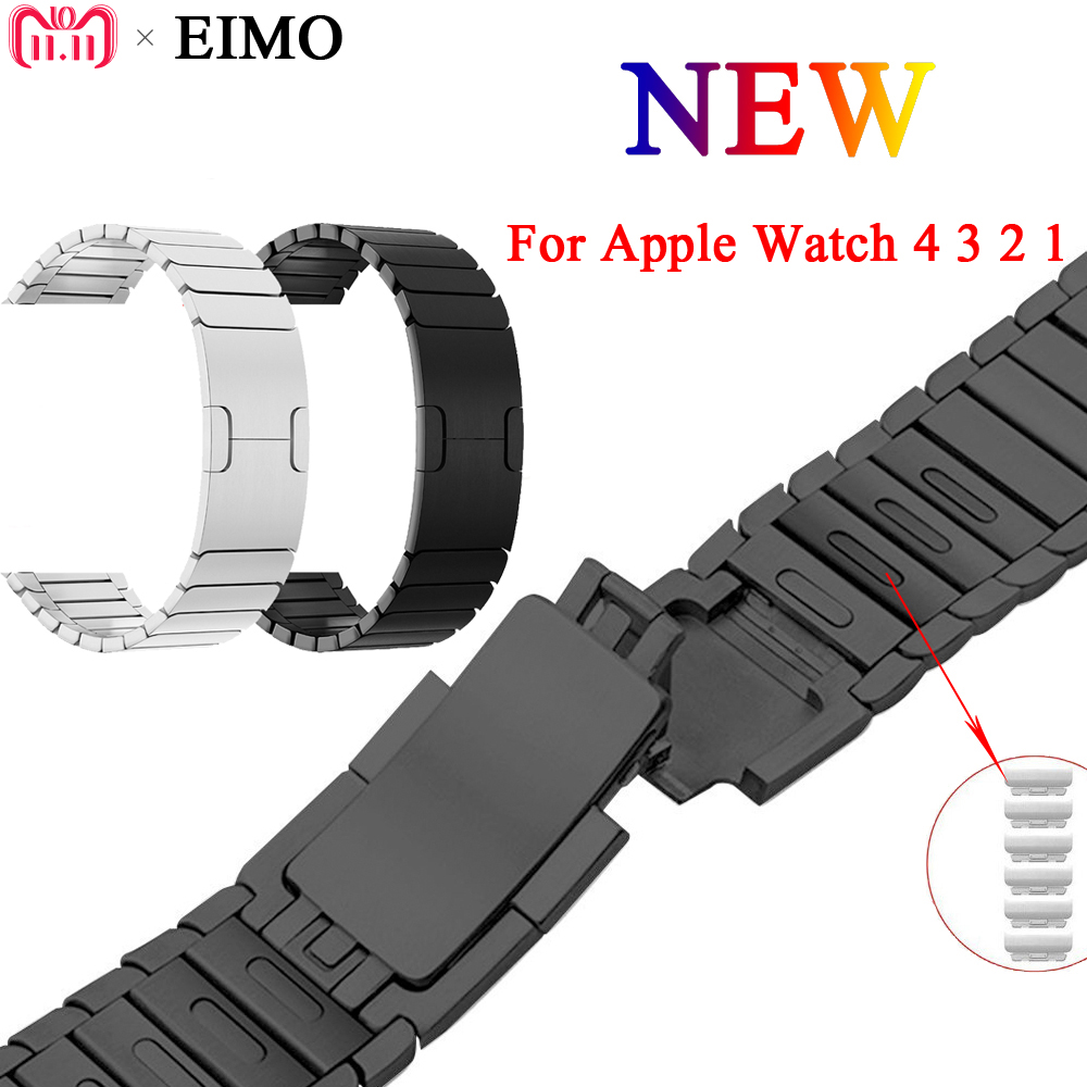 EIMO Band Strap for Apple Watch series 4 44mm 40mm iwatch 4 3 2 1 42mm 38mm Stainless Steel Link Bracelet Wrist colck Watchband цена