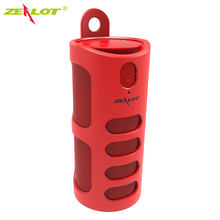 Baru Zelot S8 Merah Bluetooth Speaker HI FI Kolom + Membawa Tas Stereo Outdoor Portable Wireless Speaker + Power Bank + dukung Kartu TF(China)