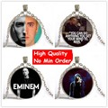 Fashion Glass Chain Necklace Eminem Pendant Necklaces SteamPunk Women Men Film Jewelry Unisex Statement Nnecklace 2016 Best Gift