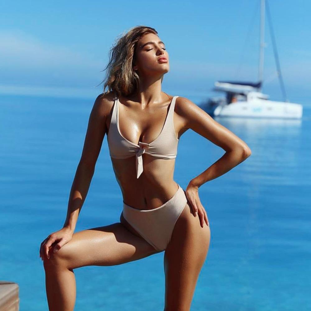 HTB1jR5KRVXXXXa4aXXXq6xXFXXX9 - Summer sexy Beach Bikini Double wrapped chest Women Beach swimsuit Underwear Bra sets JKP388