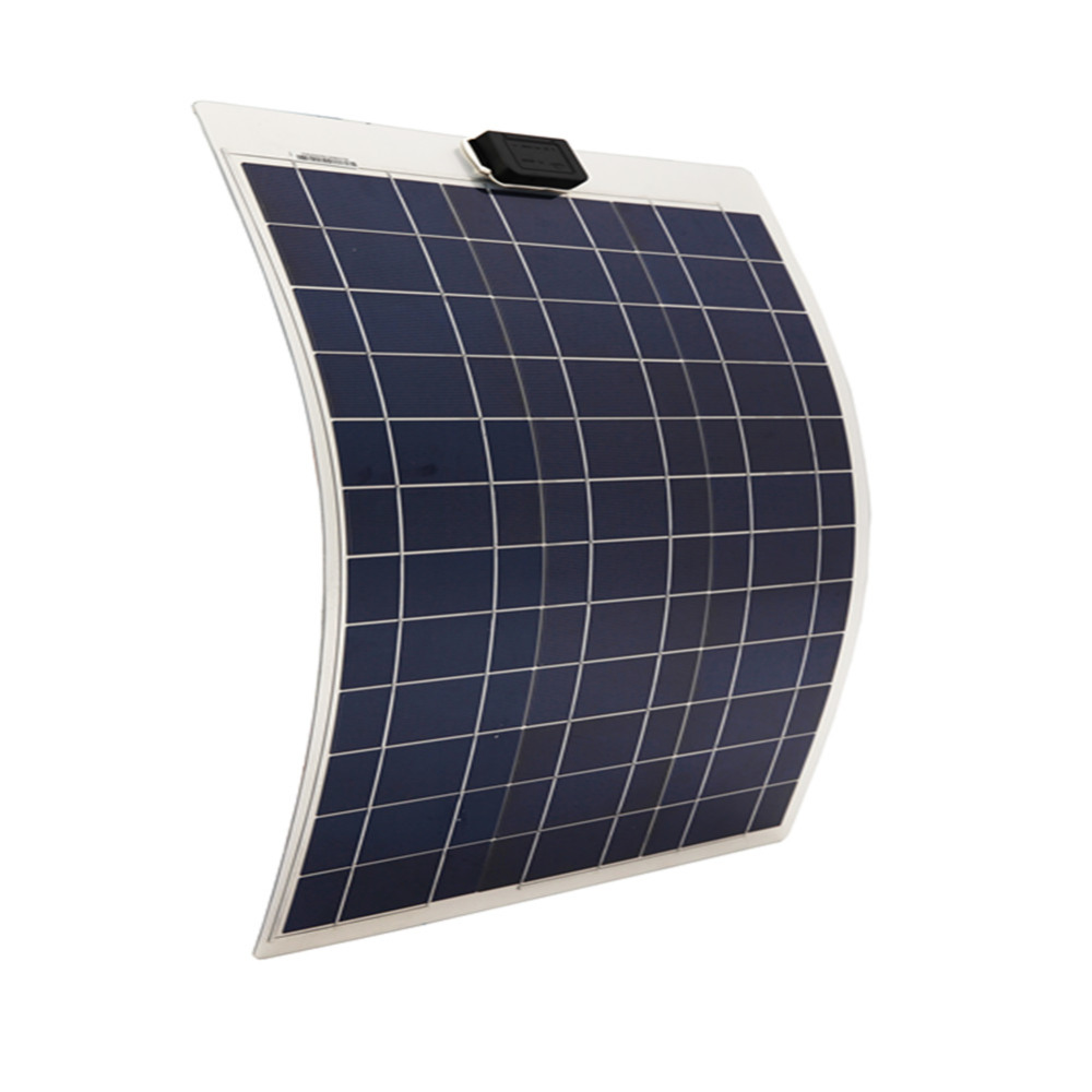 50W 12V solar panel ,soalr flexible  panel, poly crystaline cells module For 12v battery,free shipping 2pcs 4pcs mono 20v 100w flexible solar panel modules for fishing boat car rv 12v battery solar charger 36 solar cells 100w