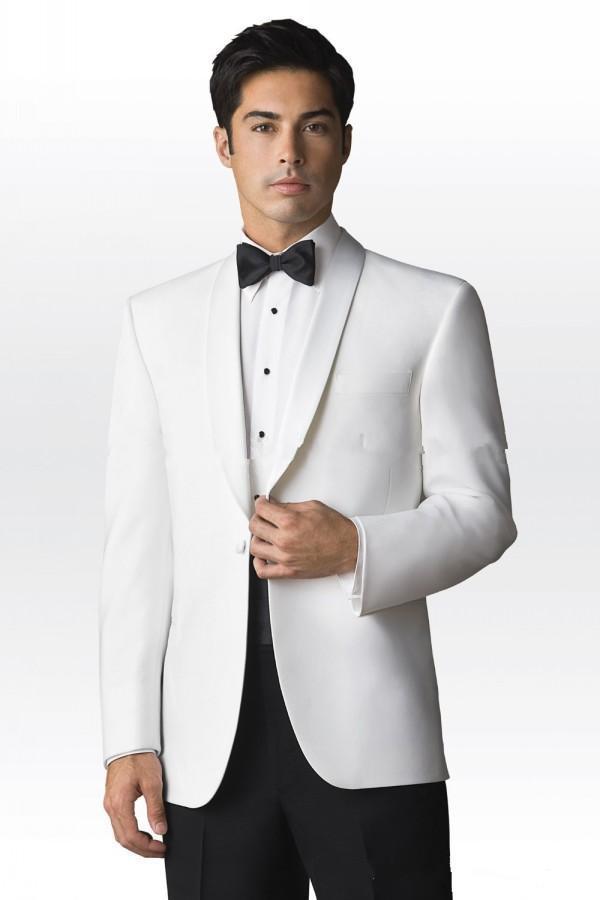 as 2015 Picture Hommes D'honneur Cravate Un veste Smokings Homme Bouton Design Marié As Mariage Meilleur Nouveau Châle Picture Garçons Revers Blanc De Pantalon Costumes 4qr4B6