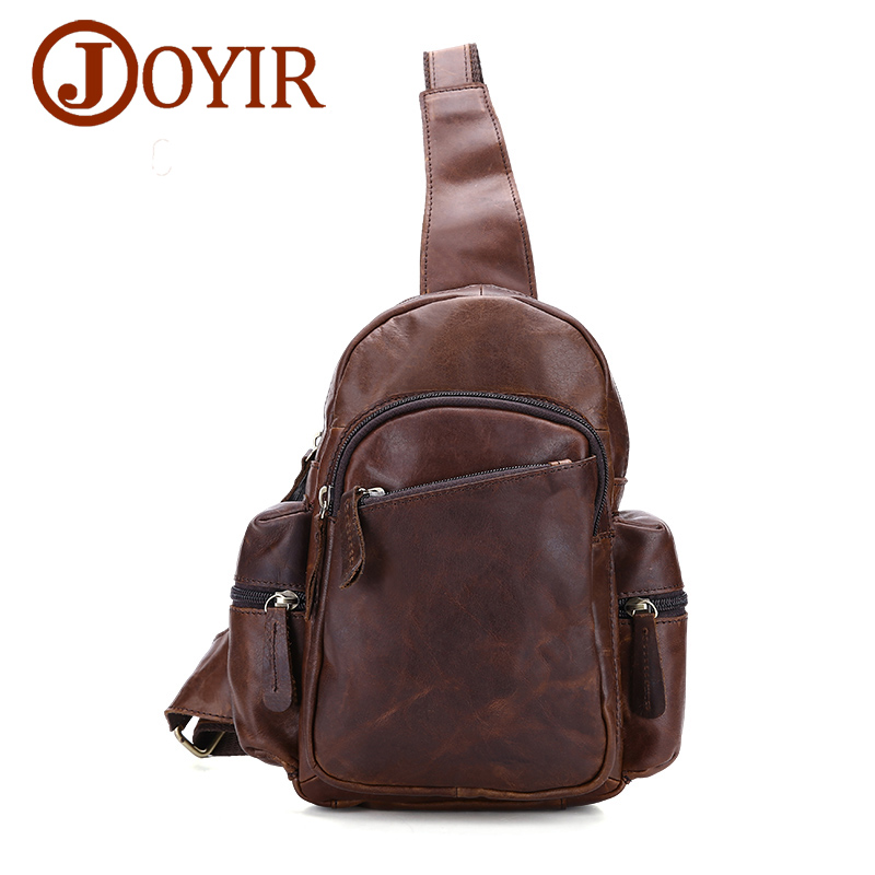 Designer 2018 Genuine Leather Cowhide Chest pack Men's Crossbody Chest Bags Fashion Small Shoulder Bag Crossbody for Man Bag joyir new arrival genuine leather cowhide chest pack men s crossbody chest bags casual small shoulder bag for male man bag 1308 page 7