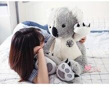 new arrival large 75cm gray koala plush toy soft throw pillow toy birthday gift h2962