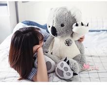 new arrival large 75cm gray koala plush toy, soft throw pillow toy birthday gift h2962