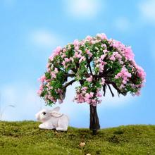 Миниатюрное дерево Сказочный Сад Декор кукольный домик растительный горшок Фигурка DIY ремесло орнамент