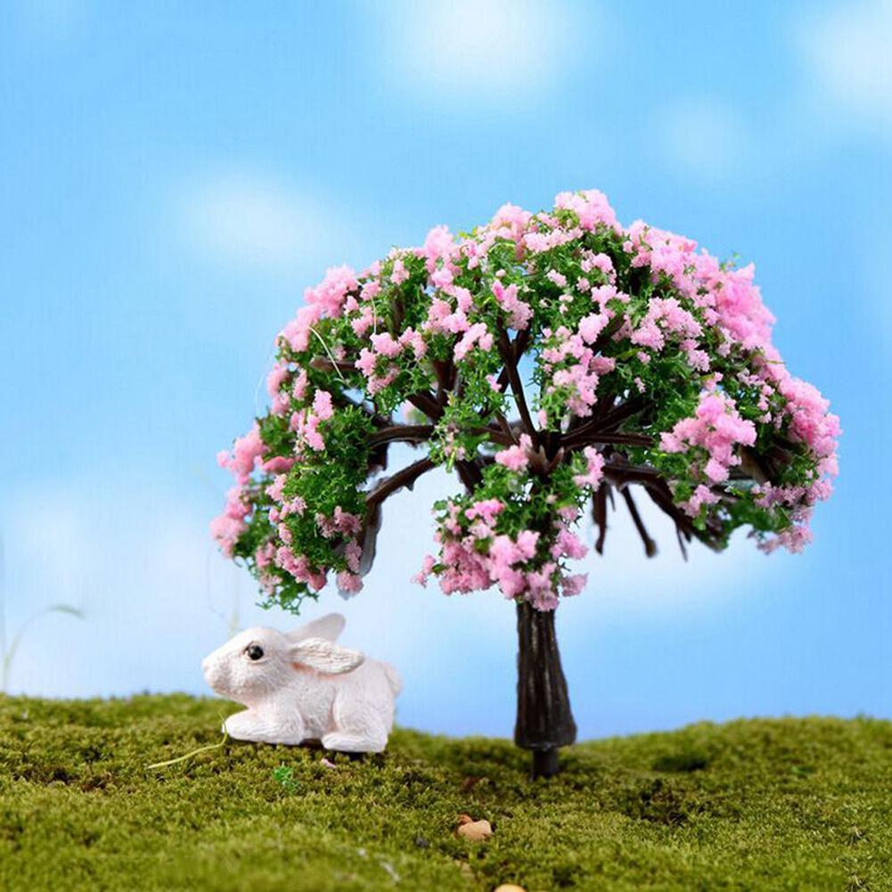 Miniature Tree Fairy Garden Decor Dollhouse Plant Pot Figurine DIY Craft Ornament