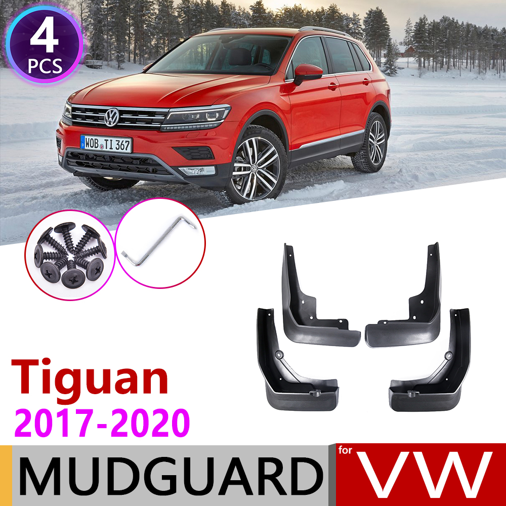 4 PCS For Volkswagen VW Tiguan MK2 5N 2017 2018 2019 2020 Car Mudflap Fender Mud Guard Flaps Splash Flap Mudguards Accessories