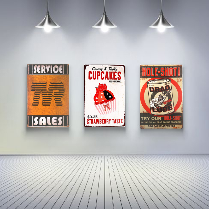 Service Sales Vintage Tin Signs Retro Metal Plate Painting Wall Decoration for Bar Home Club Pub and So on 30CM*20CM