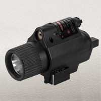 FIRE WOLF Tactical LED Flashlight Light Red Laser Sight Dot Scope Combo For Pistols Shotgun By