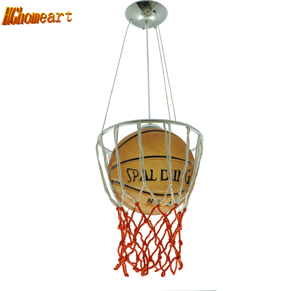 Hghomeart Enfants Led Lampes Suspendues Basketball Academy Lumières de Bande Dessinée Enfants Chambre de Lampes D'éclairage