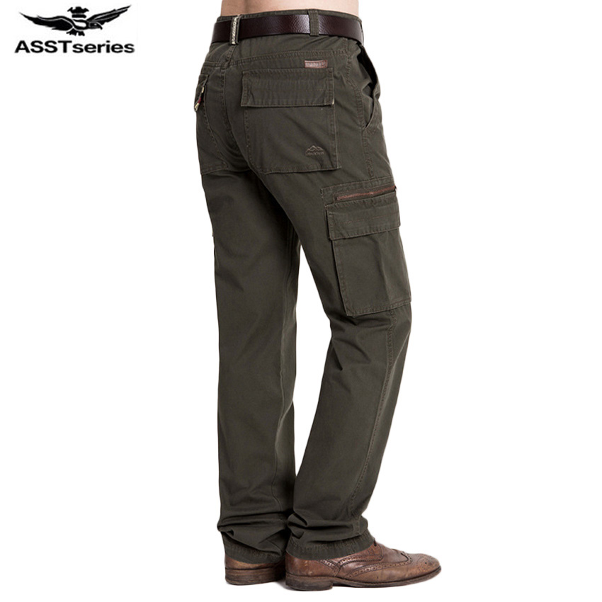 Mens Casual Pants Multi Packet Pants Autumn And Winter AFS JEEP Trousers Loose Big Yards ...