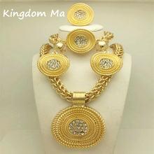 Kingdom ma новые модные Африканские свадебные аксессуары золотого