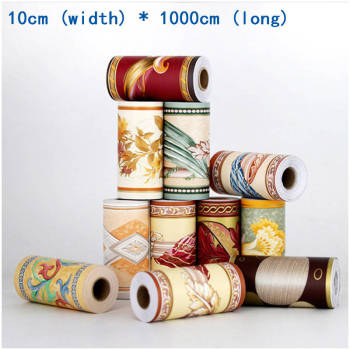 Waistline Stickers PVC Waist Wallpaper 3D Wallpaper Border Walls Roll Stereo Wall Stickers Living Room Waterproof 3D Wall papers