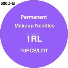 CHUSE 600D-G Permanent Makeup Needles 10pcs Sterilized Needles 1RL For Eyebrow Makeup Pen Machine Supply PMU Tattoo