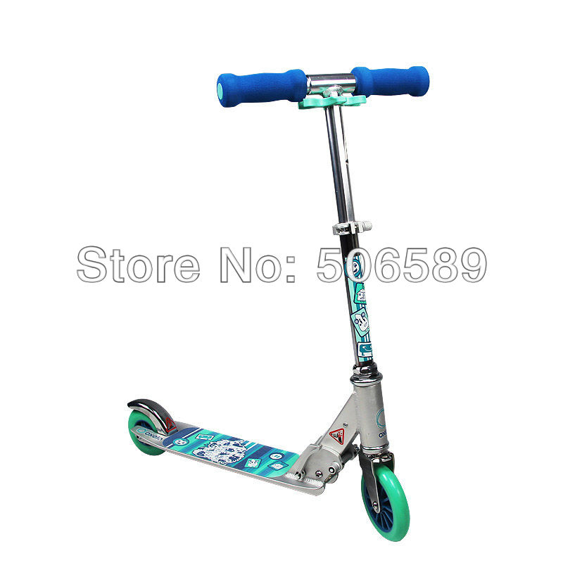 free shipping children's scooter user age 5-8 years old 3 wheels pink blue play3 foldable kettler scooter zero 8 authentic blue t07125 5020