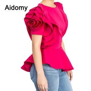 8ec27df5 Aidomy Women Blouses Summer Peplum Top Female Shirt White