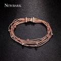 Newbark clásico joyas pulsera 7 unids serpiente cadenas con cristales multicolores pulseras para las mujeres bijoux navidad