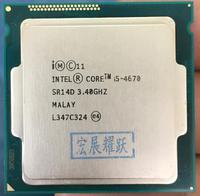 ПК компьютер Intel Core i5 4670 i5 4670 четырехъядерный процессор LGA1150 Desktop Процессор 100% работает должным образом настольный процессор