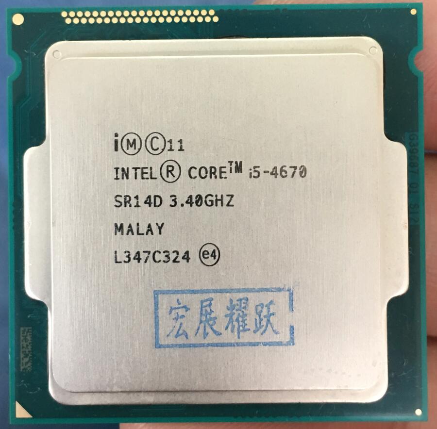 PC computador Intel Core i5-4670 i5 4670 Processador Quad-Core LGA1150 Desktop Processador CPU de Desktop 100% funcionando corretamente