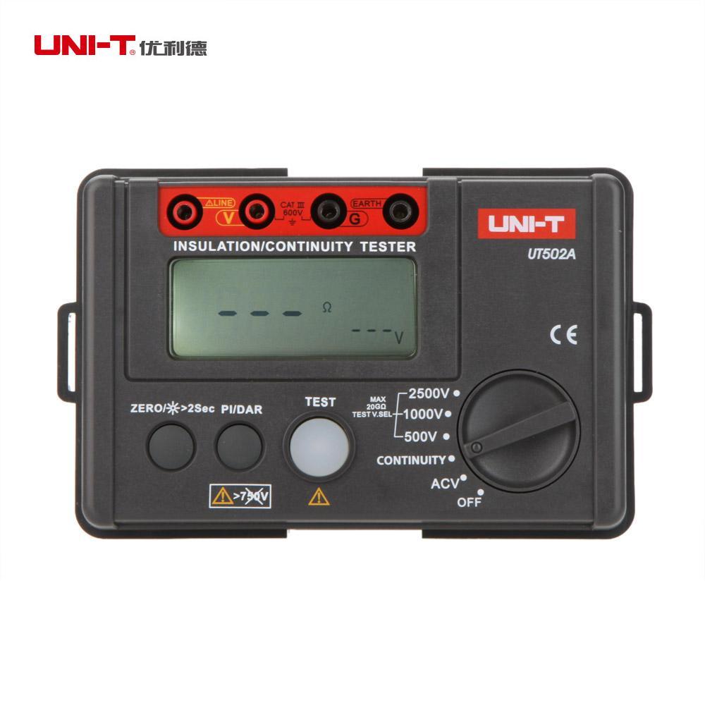 UNI-T UT502A 2500V Insulation Resistance Tester Megohmmeter esr meter Voltmeter Continuity Tester megger diagnostic-tool