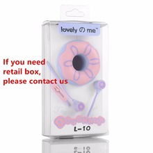 Donuts Macaron Earphones 3.5mm in-ear Stereo with Mic for Smartphone