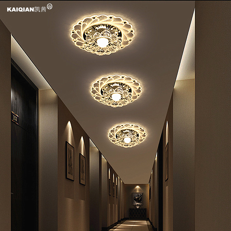 2016 Kathy creative aisle lights corridor lamp LED crystal lamp porch lamp lights home ceiling lamps downlight modern minimalist c18 2015 newest high power h11 80w cree yellow led car fog daytime running signal light bulb
