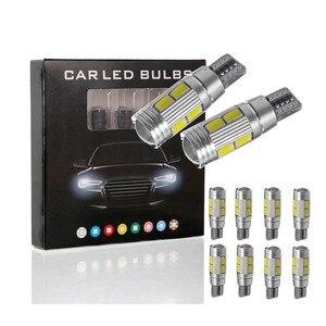 10PCS Car LED Light Bulbs 3 Color LED Lamp 5630 5730 High Power Chips Auto LED Light Bulbs 194 W5W 450LM LED Light Car