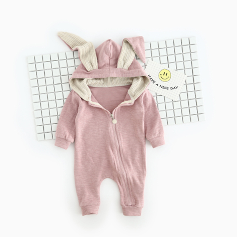 YiErYing Baby Clothes Baby Boys Girls Jumpsuit Cute Cartoon Rabbit Cotton Long Sleeve Hooded Newborn Baby Romper puseky 2017 infant romper baby boys girls jumpsuit newborn bebe clothing hooded toddler baby clothes cute panda romper costumes