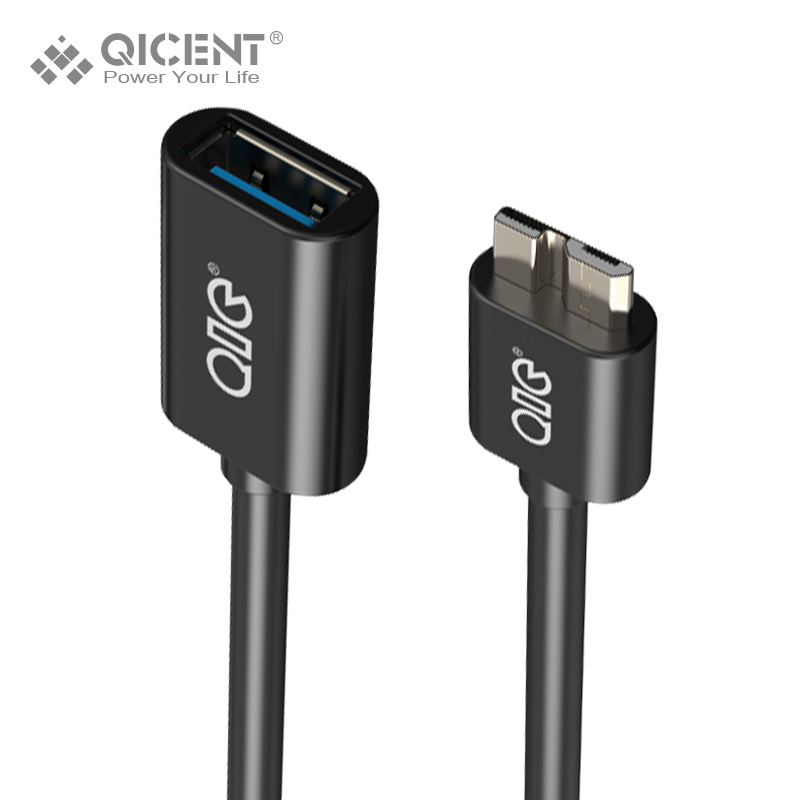 QICENT MOR3-W15 USB3.0 A Male to Micro USB3.0 OTG 15CM Data Micro Cable for SAMSUNG samsung galaxy Note3 S5-Black/White unitek y c445 micro usb male to usb female otg data cable for samsung white