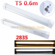 10pic/lot T5 neon LED fluorescent Tube Light Lampada 60cm Integrated 0.6m 600mm Lamp AC110V220V240V Warm/Cold/Natural White