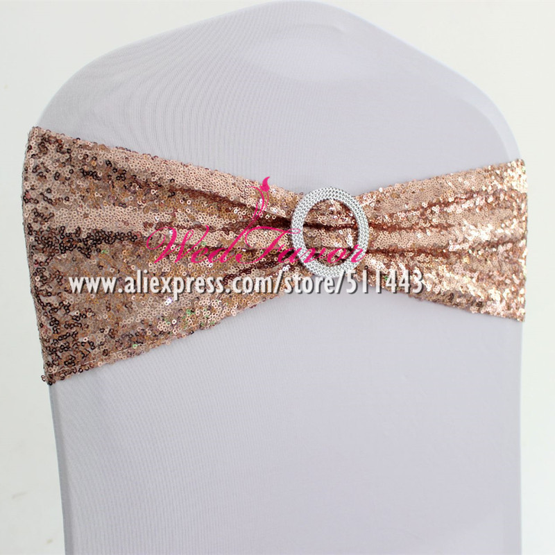 3D Rose Spandex Stretch Banquet Chair Covers Sash Band Tie Wedding Party Decor